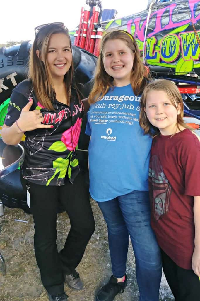Monster Jam Pit Party photo with Wild Flower monster truck driver