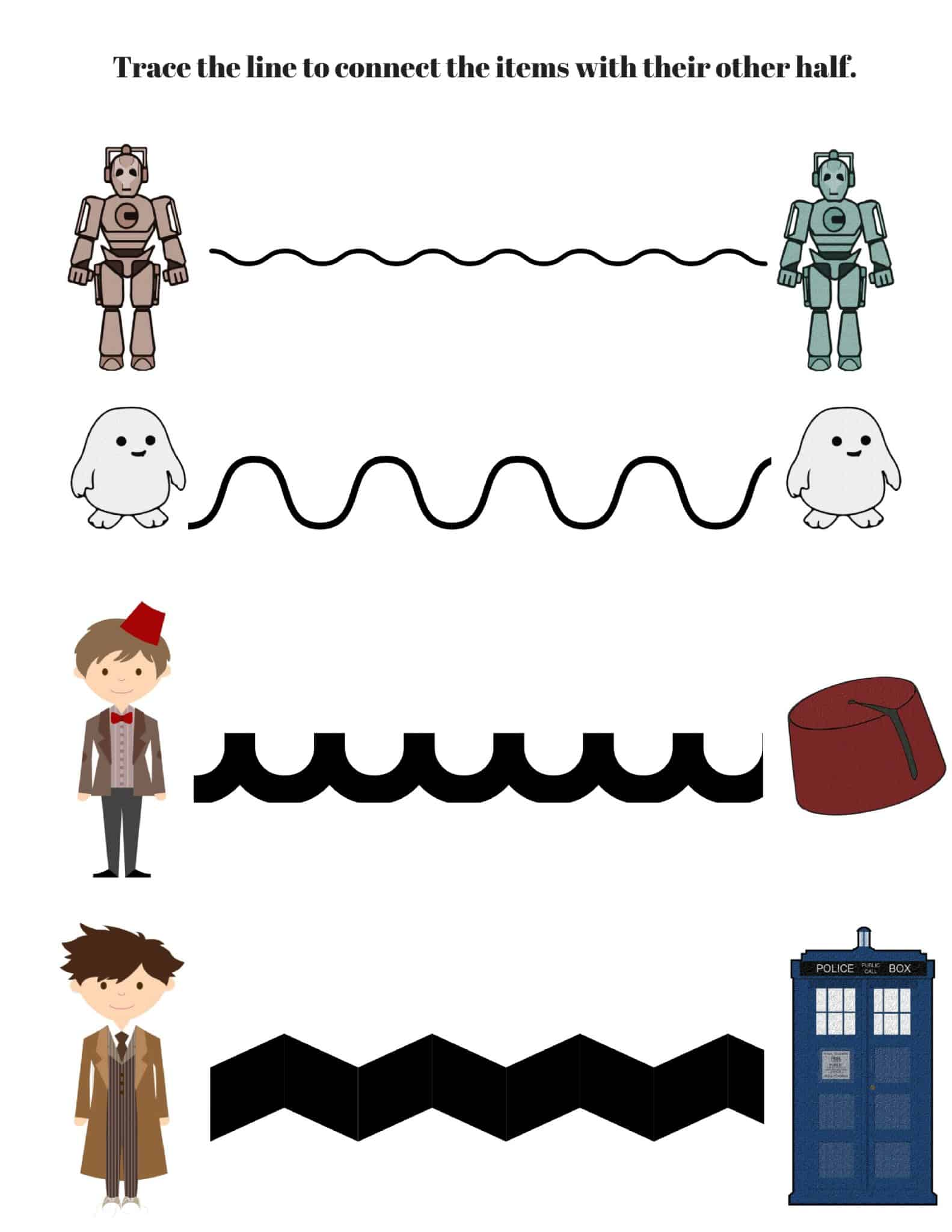 Do you have a young Whovian in the house? These Doctor Who Handwriting printables may be just what you need to get them working on handwriting.