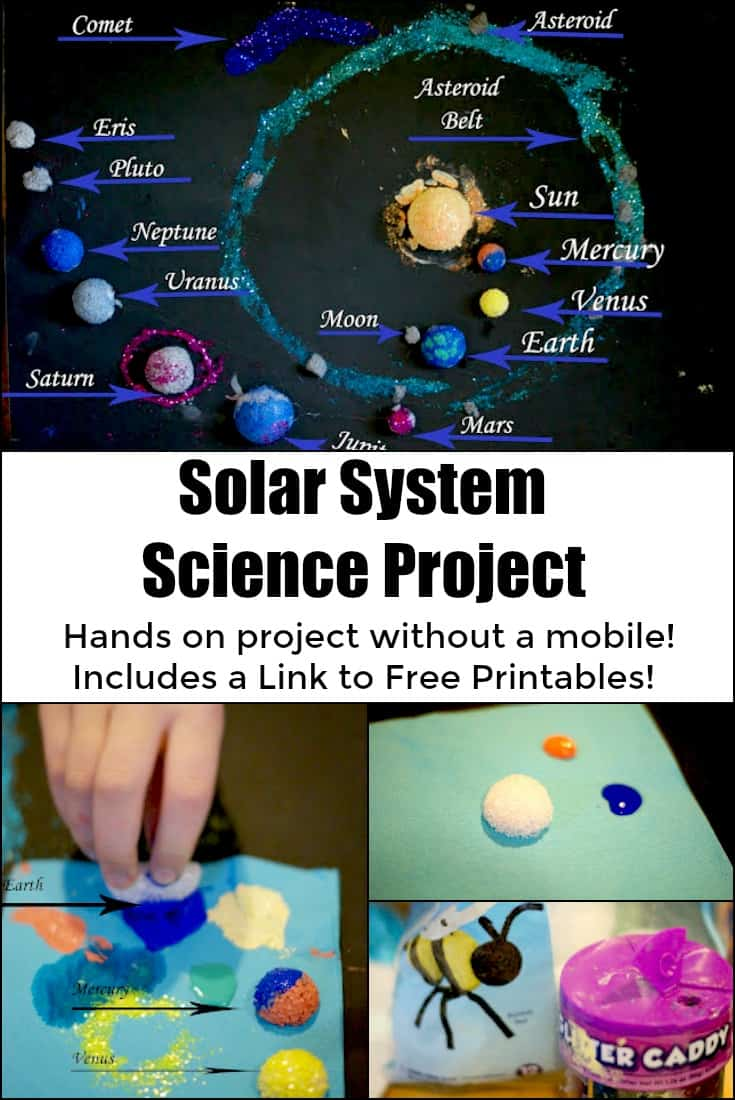 Solar System Science Project - Hands on Project without a mobile - Includes a link to a free printable