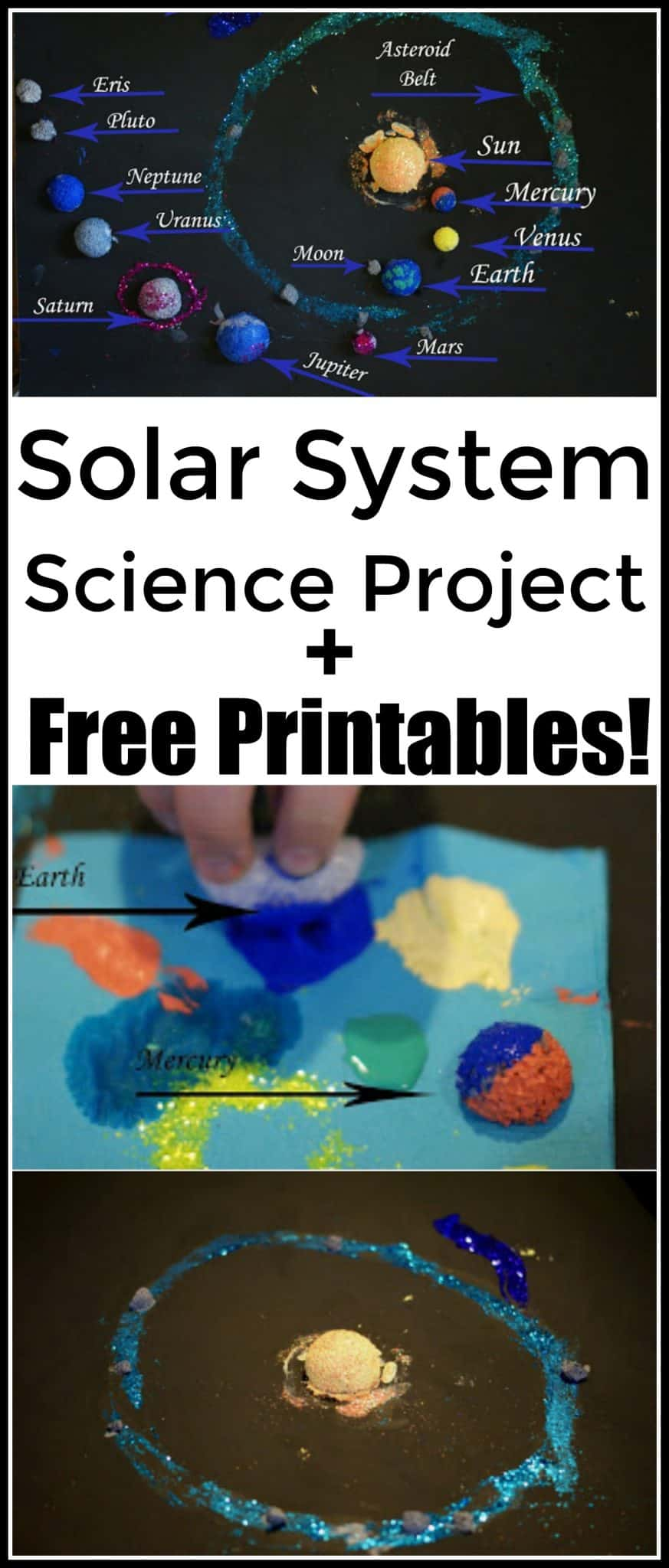 Solar System Science Project and Free Printables - Are you looking for a hands on twist to the old fashioned solar system Science project? - #Science #stem #handsonlearning #homeschool #scienceproject #solarsystem #ScienceFair #homeschooling #education #edchat