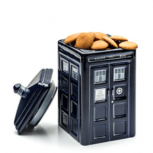 TARDIS Cookie Jar 12 Gift Ideas Any Whovian Would Love - Includes 12 categories with over 30 Doctor Who gift ideas! - #doctorwho #giftideas #whovian #doctorwhogift #giftguide