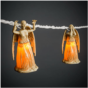 Weeping Angel Lights 12 Gift Ideas Any Whovian Would Love - Includes 12 categories with over 30 Doctor Who gift ideas! - #doctorwho #giftideas #whovian #doctorwhogift #giftguide