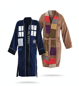 Doctor Who Bath Robe 12 Gift Ideas Any Whovian Would Love - Includes 12 categories with over 30 Doctor Who gift ideas! - #doctorwho #giftideas #whovian #doctorwhogift #giftguide