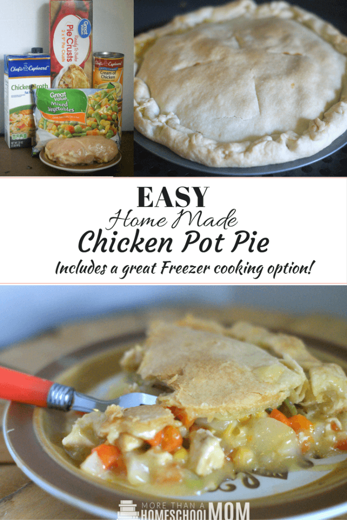 Easy Home Made Chicken Pot Pie Includes a Freezer cooking chicken pot pie, Easy Chicken Pot Pie Recipe you will enjoy. Family Recipe idea, Family meal planning option, Chicken recipe for dinner - #dinner #recipe #chickenpotpie #easyrecipe #mealplan #freezercooking #mealprep #chickenrecipe