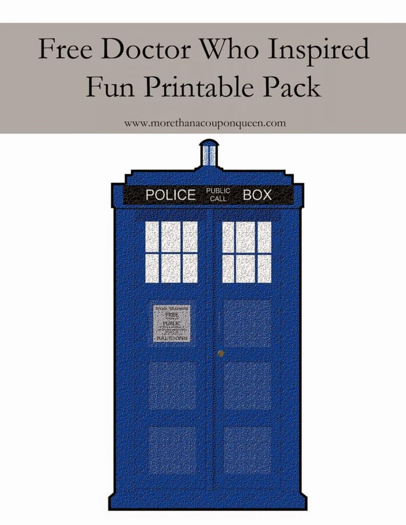 Free Doctor Who Inspired Summer Fun Printable Pack - With summer come the countless hours of car time. I decided it would be fun to put together a fun printable pack for the kids to play with while they are on the road. (I won't tell anyone if you do them too.) Have fun.
