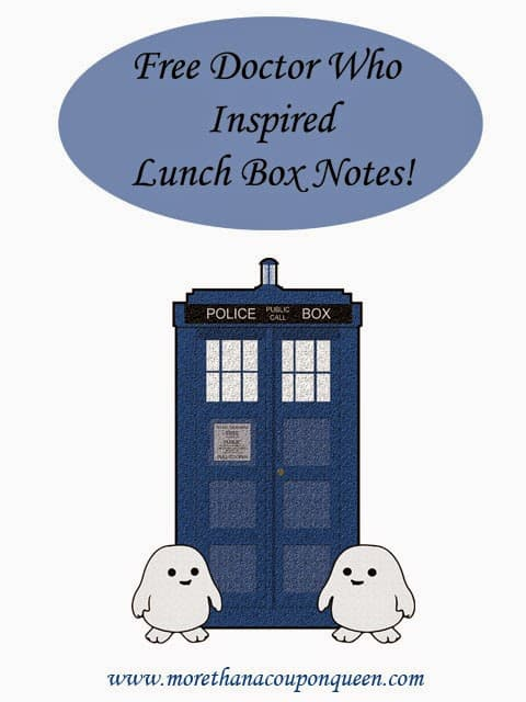 Free Doctor Who Inspired Lunch Box Notes! - Starting back to school is overwhelming. Why not make it a little easier with a Whovian word of encouragement? I have put together a great set of free Doctor Who inspired Lunch Box notes to help you get ready for the new school year. There are 30 total cards you can cut out and place in your child's lunch. Let's be honest. Some of these would be perfect for your Whovian girlfriend or your Doctor Who loving friend starting a new job.