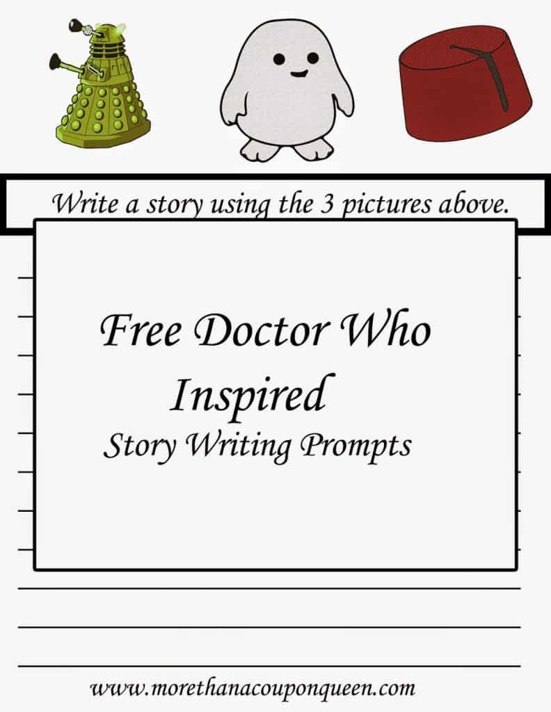 Free Doctor Who Inspired Story Prompts Printables - The school year is in full swing. I have put together a great pack of Doctor Who Inspired Story Writing Prompts for you. These are great ideas to help get your child writing even if they don't love it!