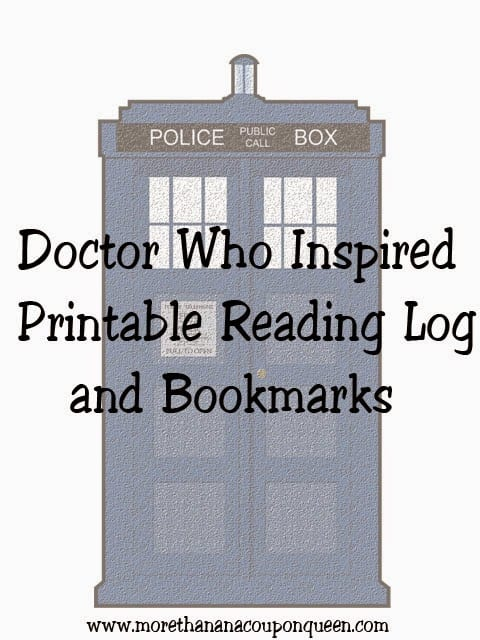Free Doctor Who Inspired Reading Logs and Bookmarks