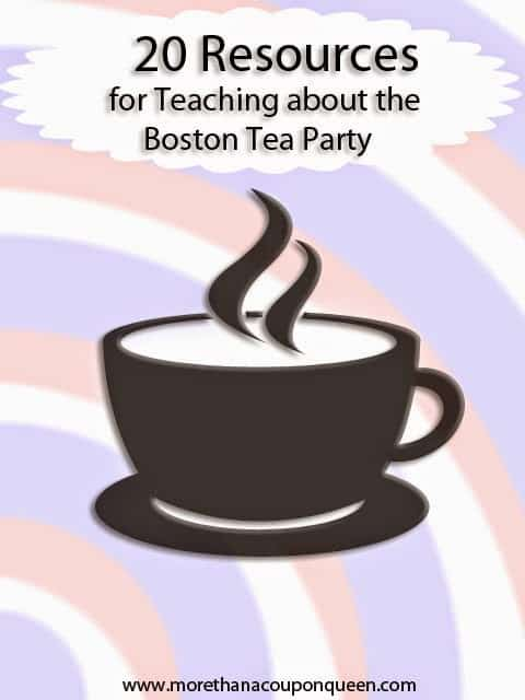 20 Resources for Teaching about the Boston Tea Party includes Boston Tea Party Printables