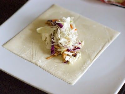 Lately I have been working hard to introduce the kids to new food without breaking the budget. I knew that they would never welcome the typical egg roll so I set out on a mission to make an egg roll my kids would eat and enjoy. After the BBQ Tacos I made I knew the kids were open to bbq with cole slaw. That is where this recipe was born. I hope that you are able to enjoy it and maybe even let the kids help you cook it.