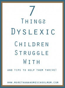 7 Things Dyslexic Children Struggle With