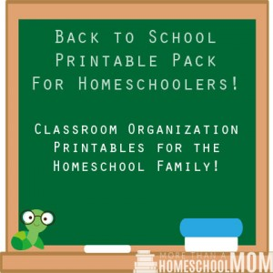 Back to School Printable Pack for Homeschoolers - Classroom organization printable for the homeschool family