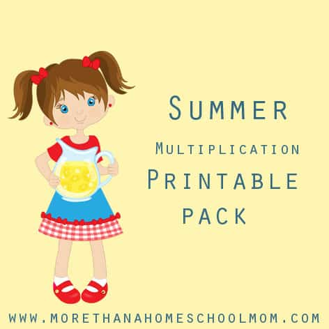 Multiplication Printable Pack - Work on multiplication facts over the summer with this great free printable pack.
