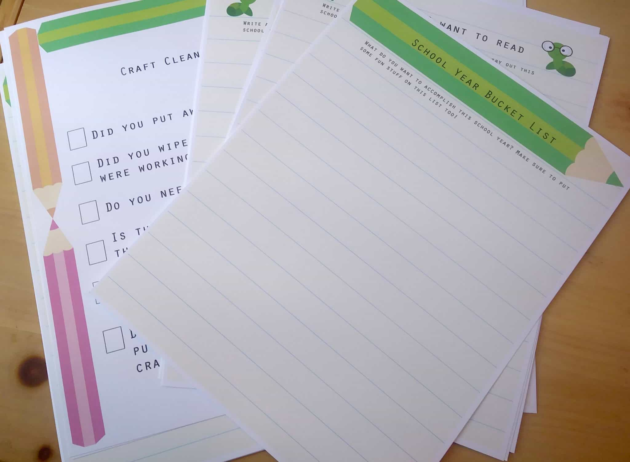 Free Back to School Printable Pack - Great for the classroom or for homeschool families!
