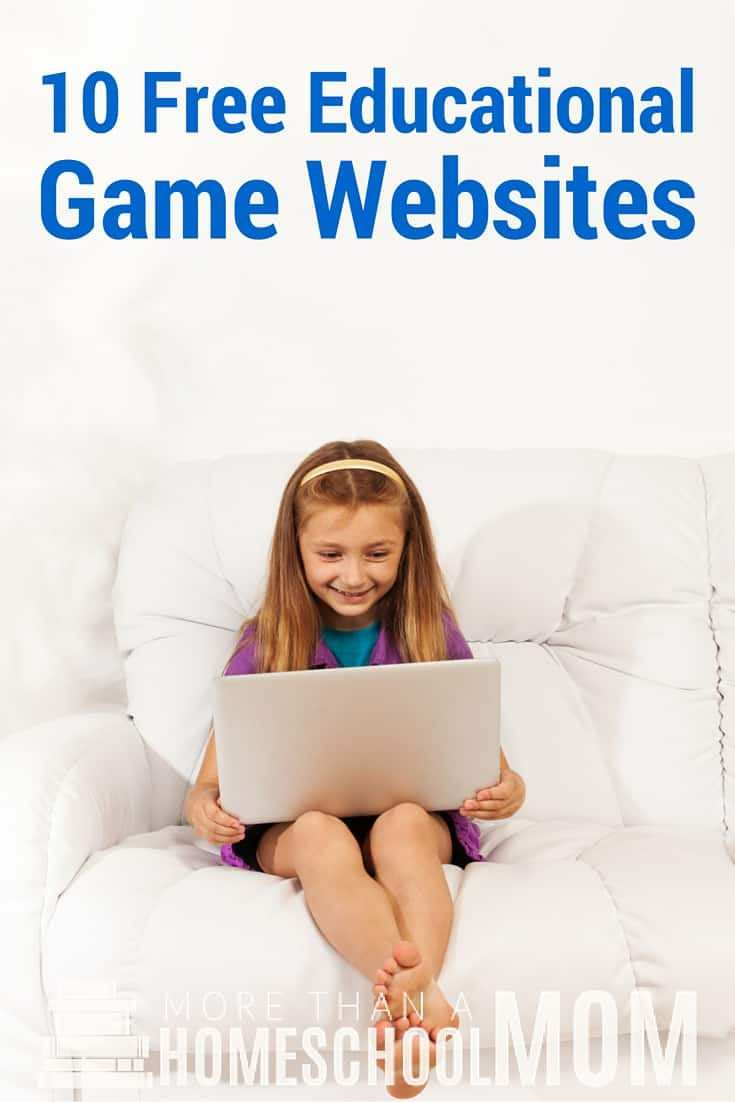 10 Free Educational Websites - Homeschool for free with some of these free game websites with an educational twist. #onlinelearning #homeschool #onlinegame #learningsites #edchat #education