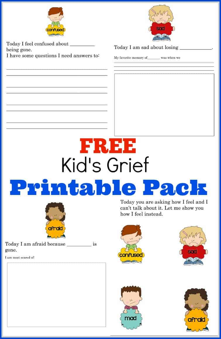 graphic relating to Printable Grief Workbook identify How in the direction of Guidance My Youngster Take care of Grief - Absolutely free Printable Grief Pack