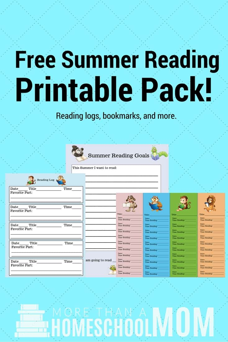 Free Summer Reading Printable Pack - #summerreading #reading #printable #freeprintable #summer #readingprintables