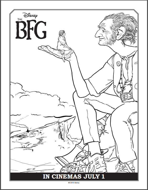 The BFG Coloring Pages