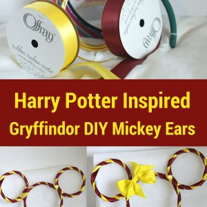 Gryffindor Mickey Ears Diy Harry Potter Mickey Ears