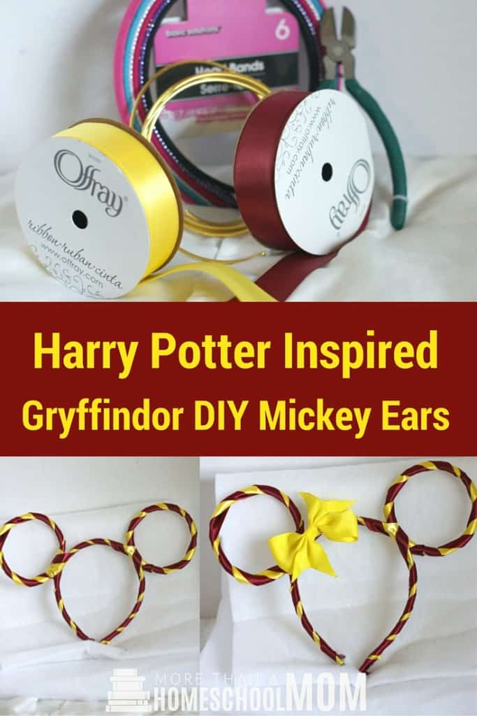 Harry Potter Inspired Gryffindor DIY Mickey Ears