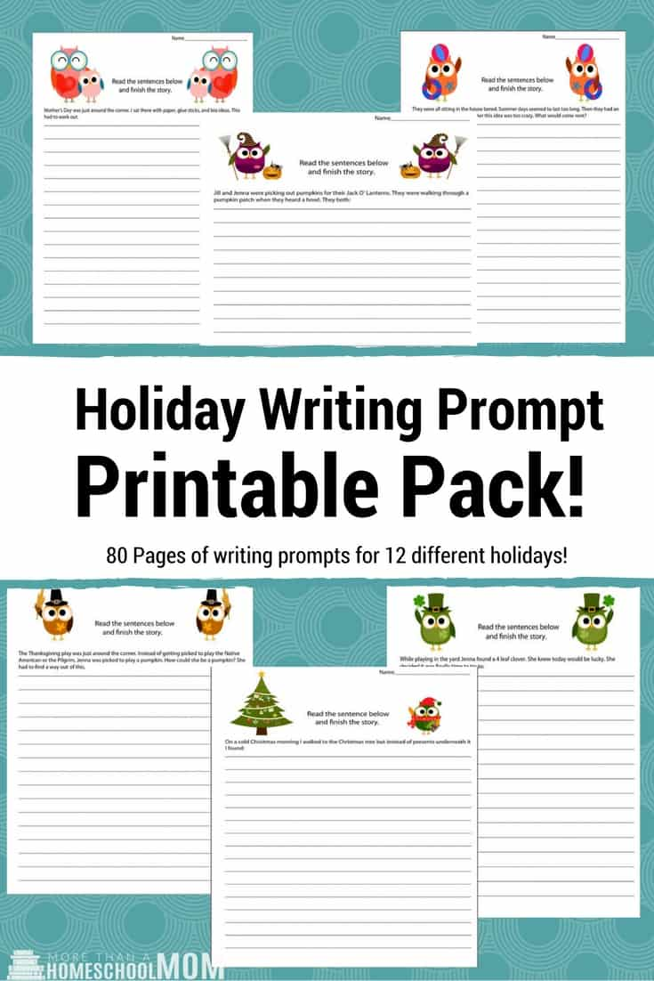 Holiday Writing Prompt Printable Pack - #writing #writingprompt #holiday #printable #freeprintable #education #edchat #homeschool #homeschooling