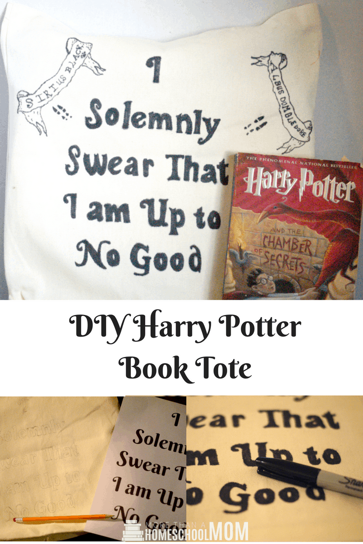 DIY Harry Potter Book Tote - #HarryPotter #HarryPotterCraft #craft #diy