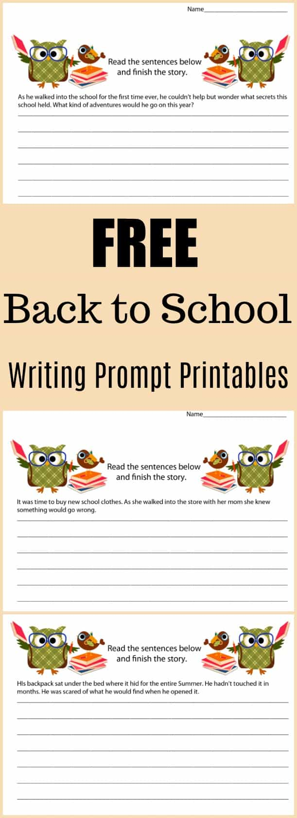 Free Back to School Writing Prompt Printable - #writing #writingprompt #holiday #printable #freeprintable #education #edchat #homeschool #homeschooling #backtoschool