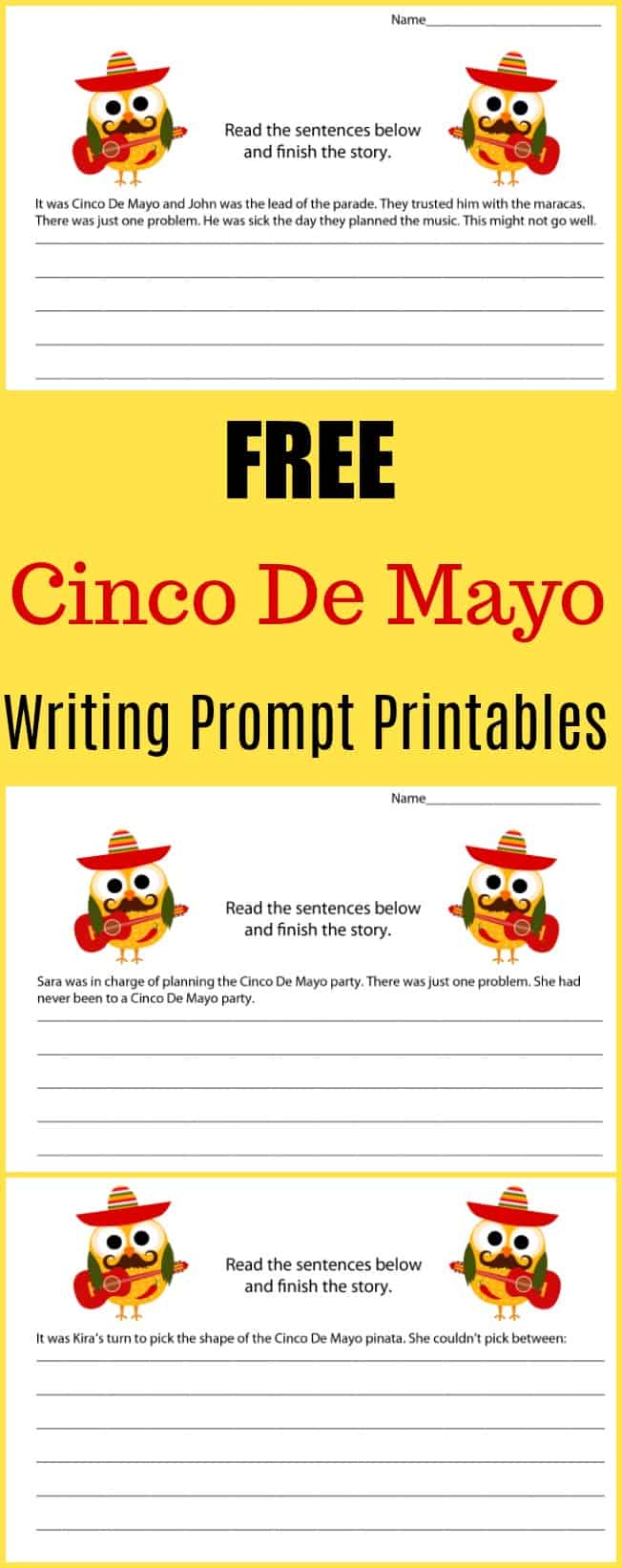 Free Cinco De Mayo Writing Prompt Printables - #writing #writingprompt #holiday #printable #freeprintable #education #edchat #homeschool #homeschooling #cincodemayo