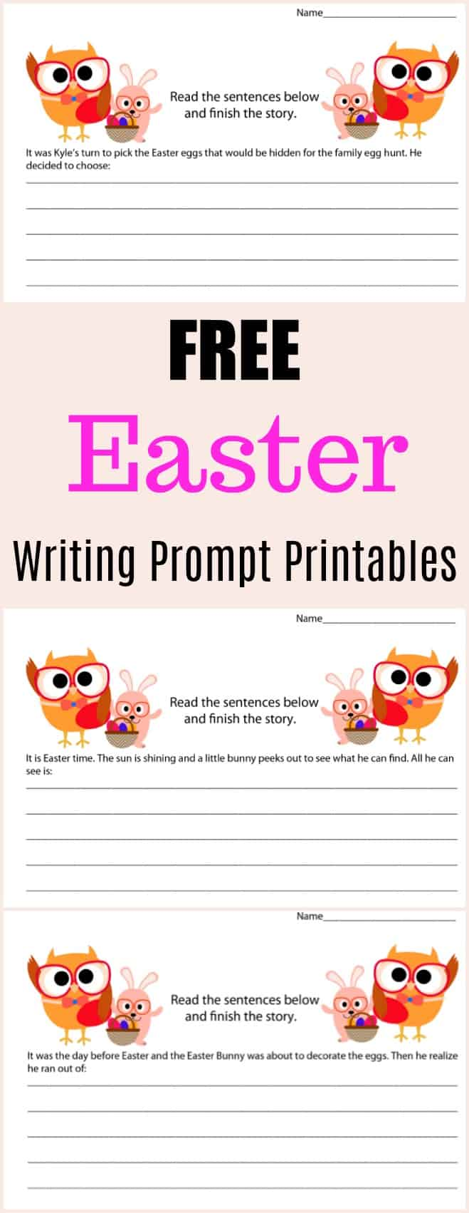 Free Easter Writing Prompt Printables - #writing #writingprompt #holiday #printable #freeprintable #education #edchat #homeschool #homeschooling #easter #easterprintable