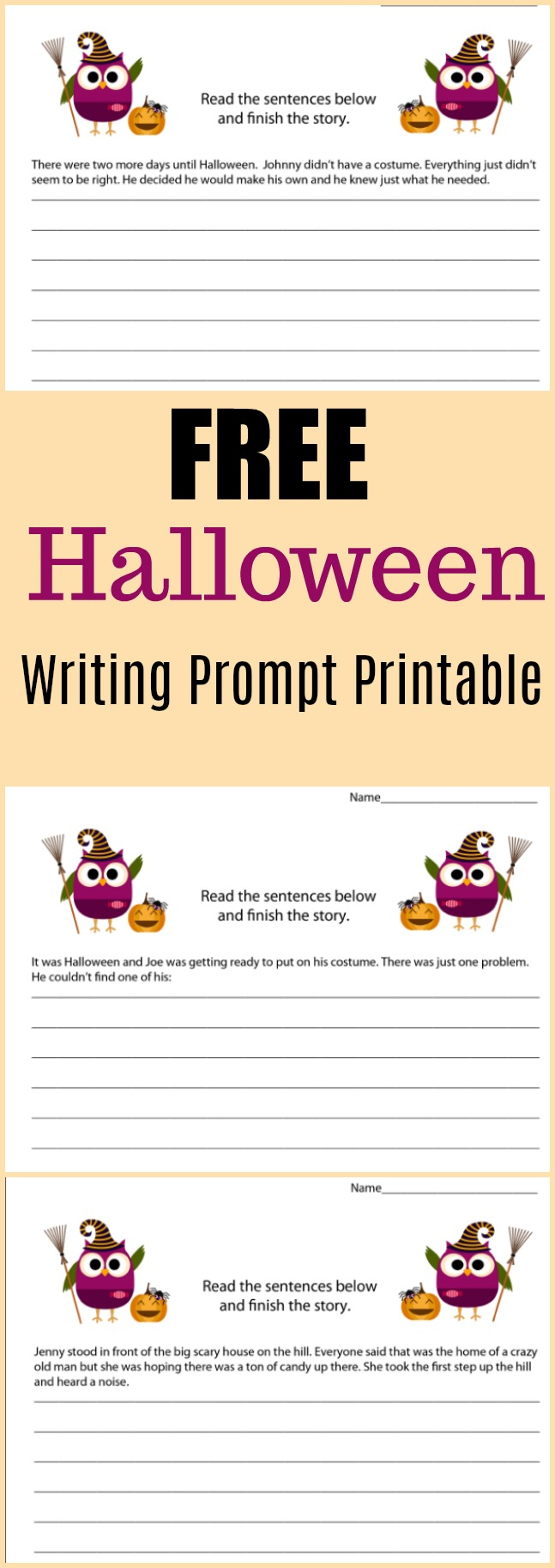 Free Halloween Writing Prompt Printable - #writing #writingprompt #holiday #printable #freeprintable #education #edchat #homeschool #homeschooling #halloween