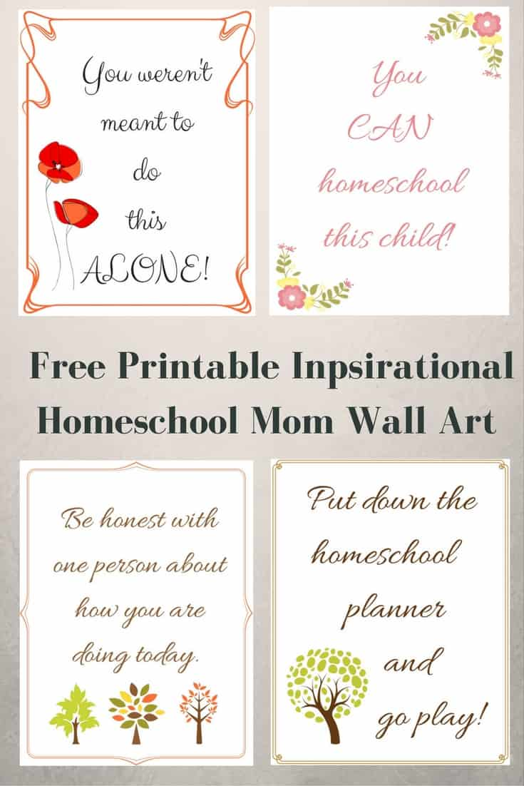 Free Printable Inspirational Homeschool Mom Wall Art - #homeschool #homeschoolmom #HomeschoolEncouragement #printable #freeprintable #quote #inspiration #homeschooling