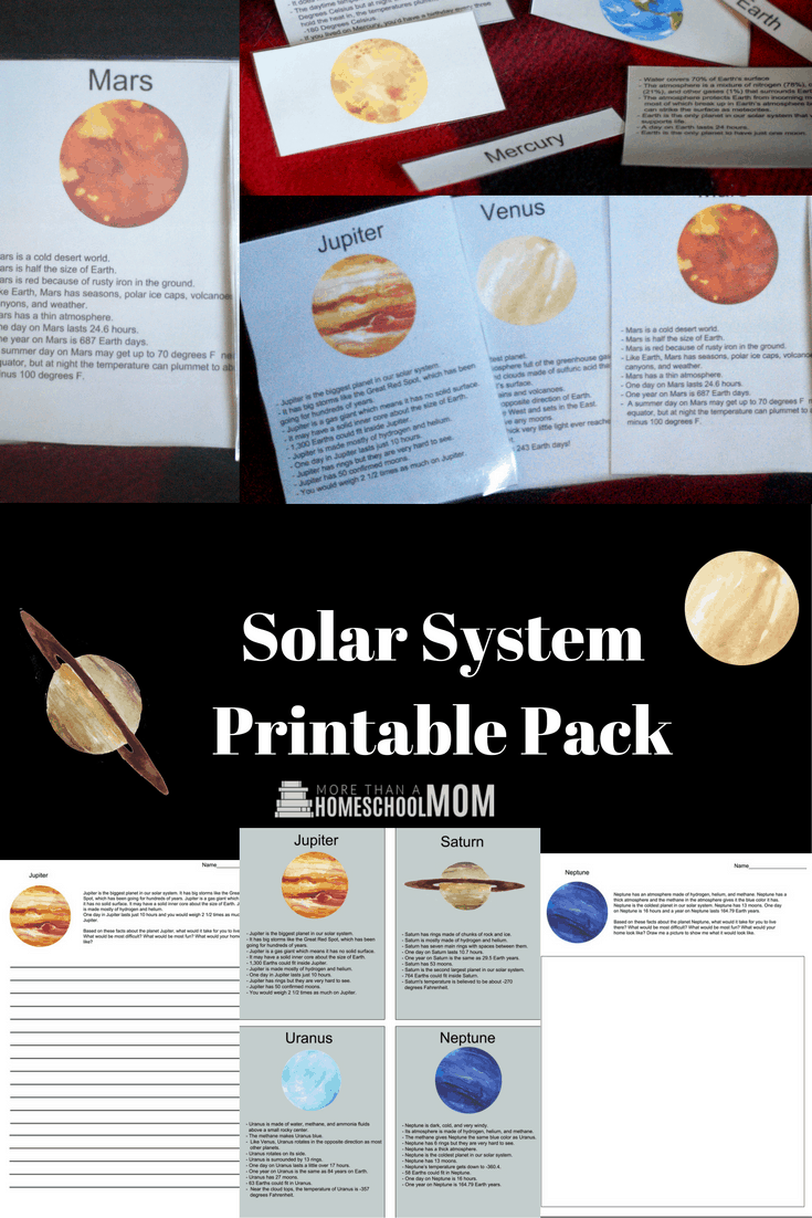 Solar System Printable Pack -  #Science #stem #handsonlearning #homeschool #scienceproject #solarsystem #ScienceFair #homeschooling #education #edchat