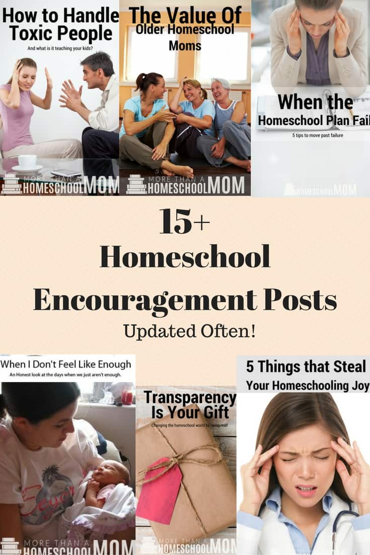 15+ Homeschool Encouragement Posts - Updated Often to include more great homeschool encouragement for hard days.  - #homeschool #homeschoolencouragement #encouragement #education #edchat #homeschooling