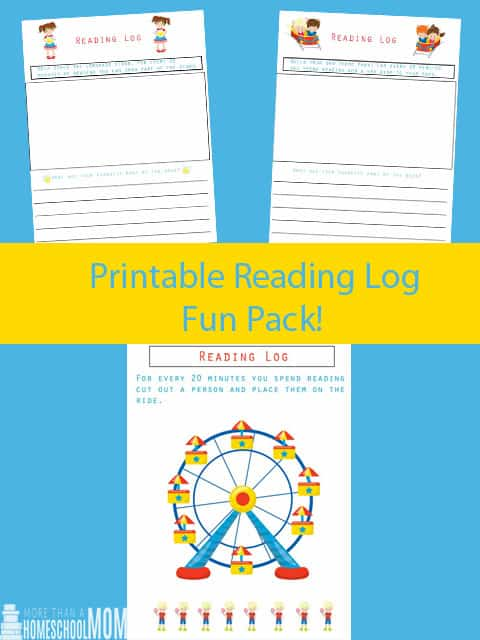 Printable Reading Log Fun Pack