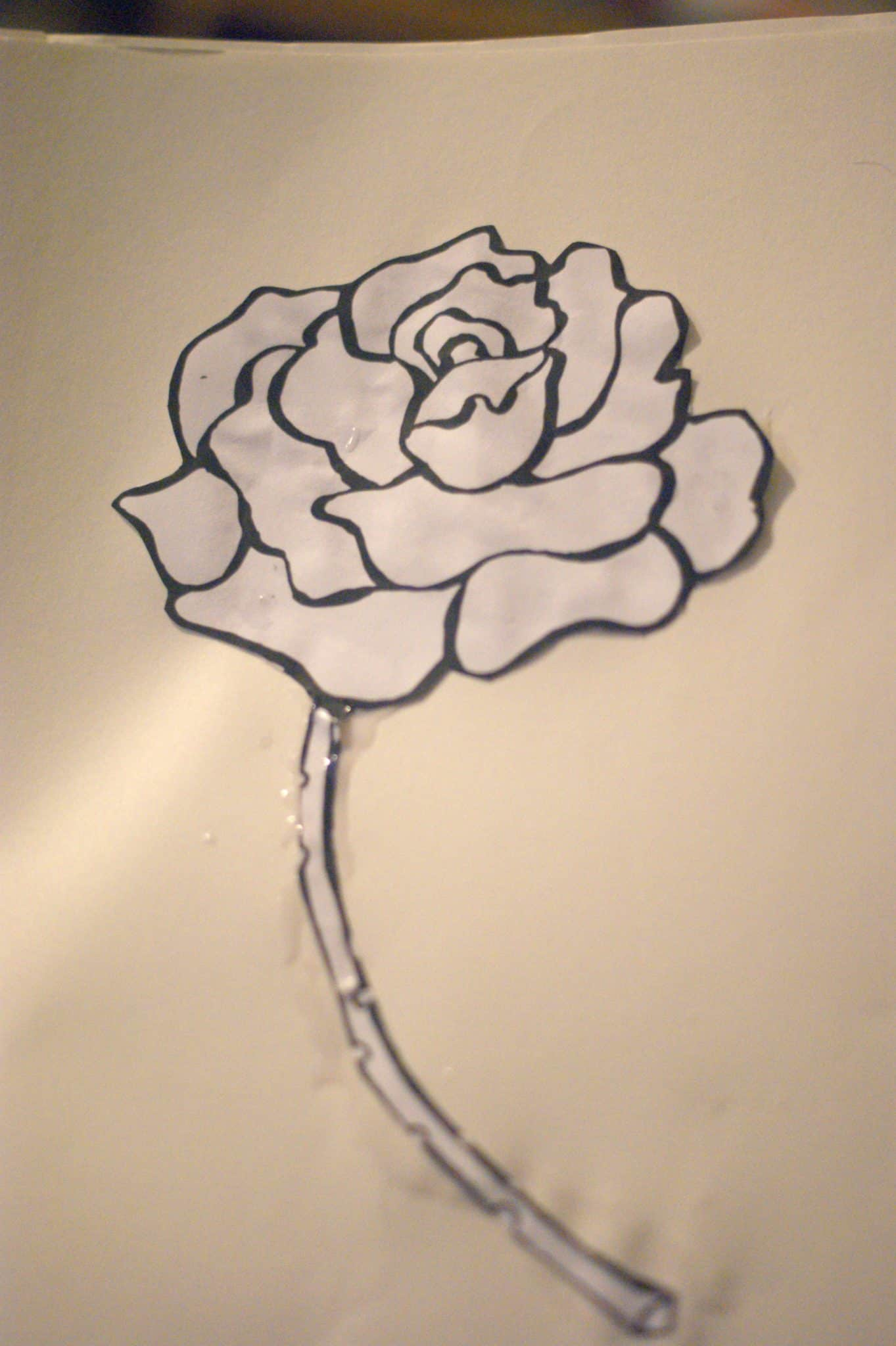 Beauty and the Beast Inspired Fine Motor Craft - Rose