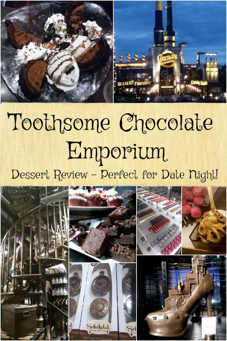 Toothsome Chocolate Emporium - Dessert Review - Perfect for Date Night at City Walk Orlando - #Travel #Toothsome #Chocolate #Orlando #Florida #CityWalk #dessert