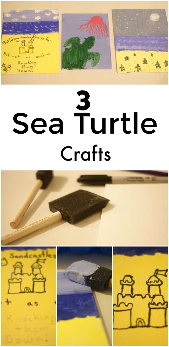 3 Sea Turtle Crafts - Great for a lesson on sea turtles!