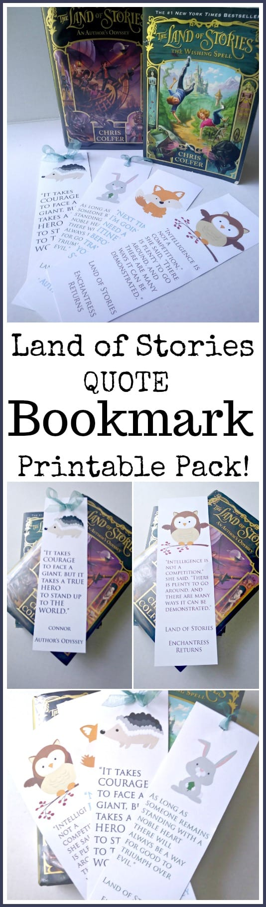 Land of Stories Quote Bookmark Printable Pack - #tlos #landofstories #booksmarks #freeprintable #quotes #reading #books #childrensbooks