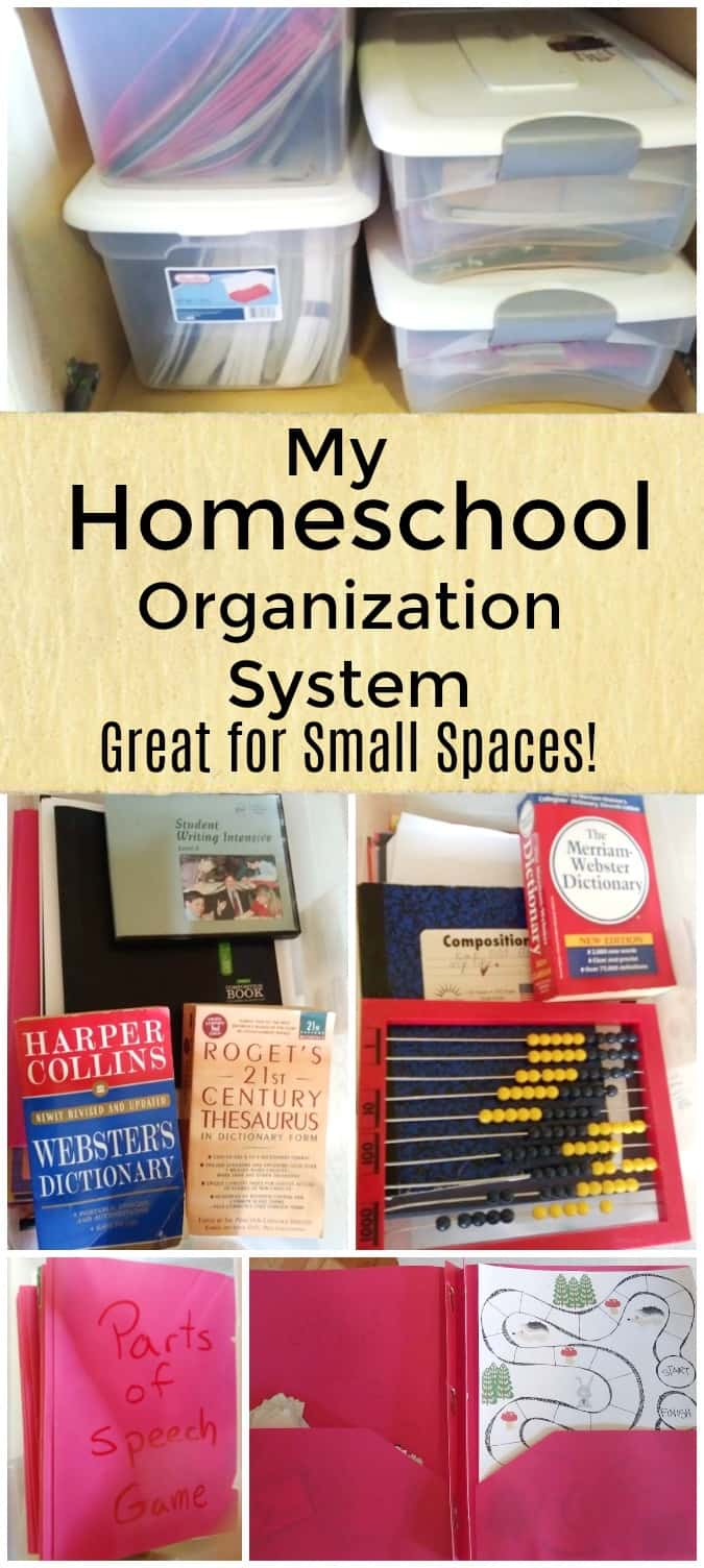 My Homeschool Organization System - Great For Small Spaces