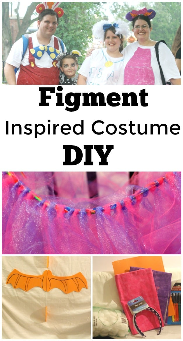 Figment Inspired Costume DIY - #Figment #Disneybounding #DIY #Costume #NotSoScary