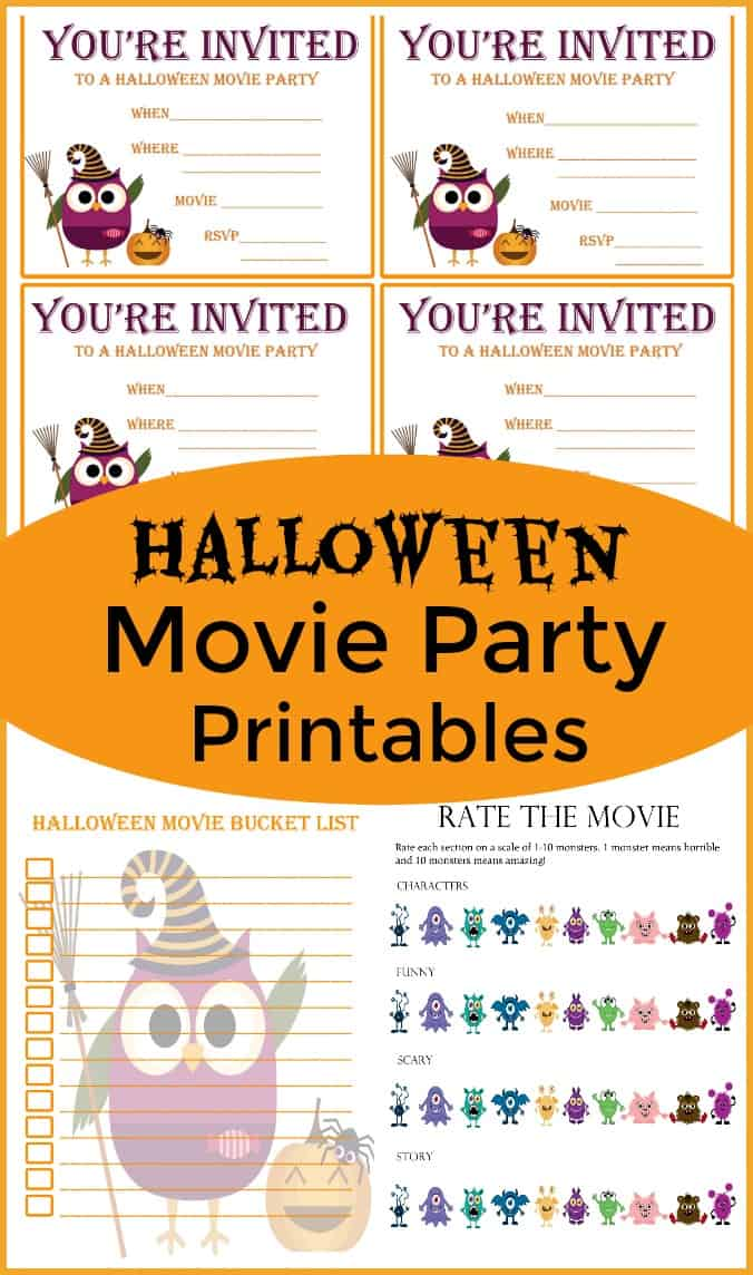 15 Halloween Movies for Kids - Kid safe Halloween movies - Includes a fun Halloween Movie Snack and a Free Printable