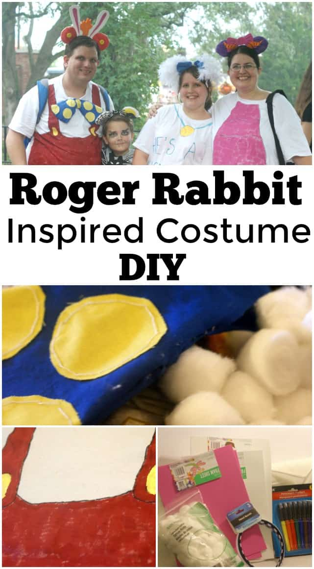 Roger Rabbit Inspired Costume DIY Looking for a Roger Rabbit inspired costume? This is the perfect Disney costume you won't want to miss out on. Includes Roger Rabbit Mickey ears!