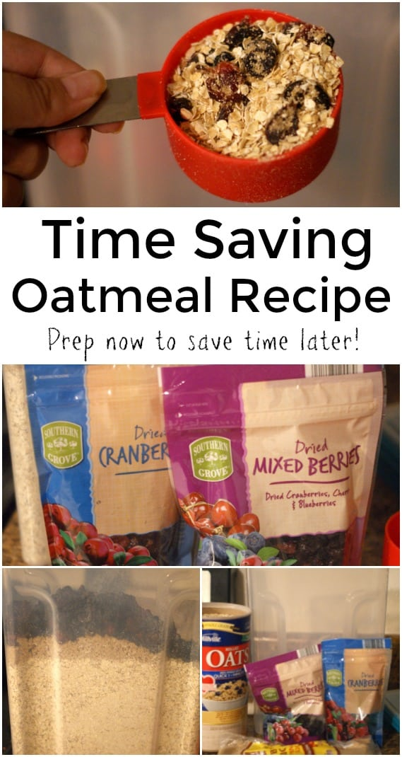 Time Saving Oatmeal Recipe