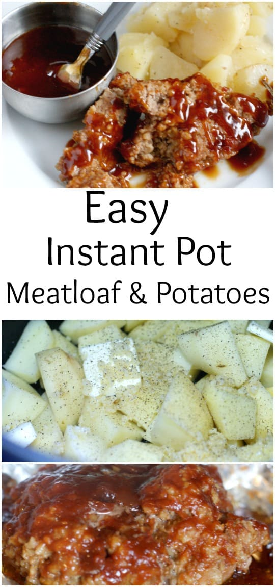 Easy Instant Pot Meatloaf & Potatoes recipe - #recipe #dinner #mealplanning #instantpot