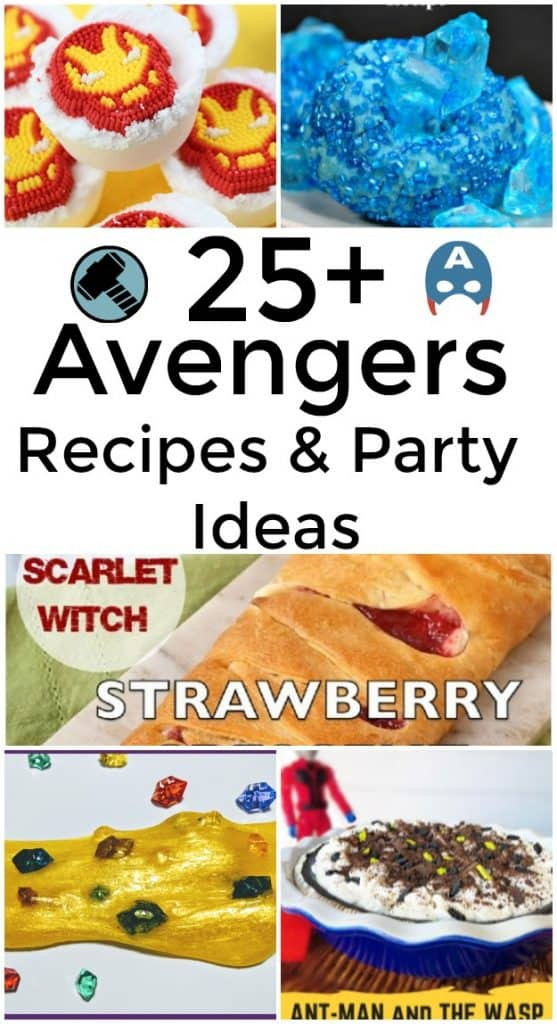 25 Plus Avengers Recipes and Party Ideas - Avengers Infinity War is sure to be a hit and your kids will probably want an Avengers party this year. #InfinityWar #Avengers #Marvel #Party #MarvelParty