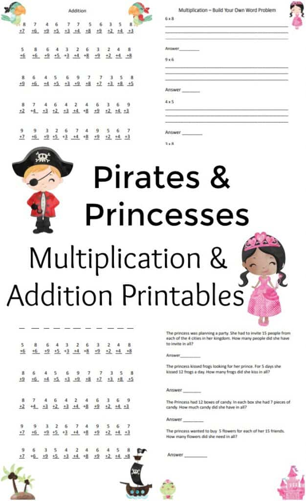 Multiplication and Addition Printable - #Math #printable #homeschool #education