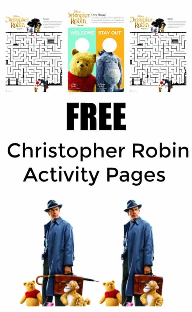 Free Christopher Robin Activity Pages