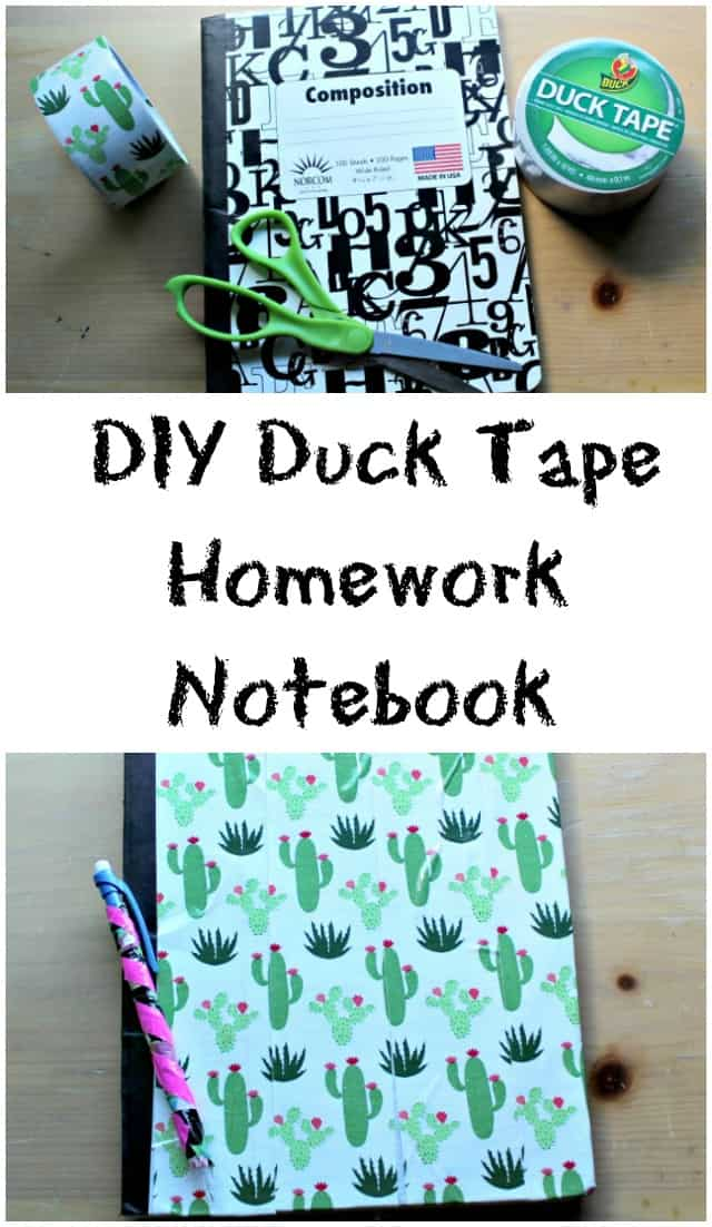 DIY Duck Tape Homework Notebook