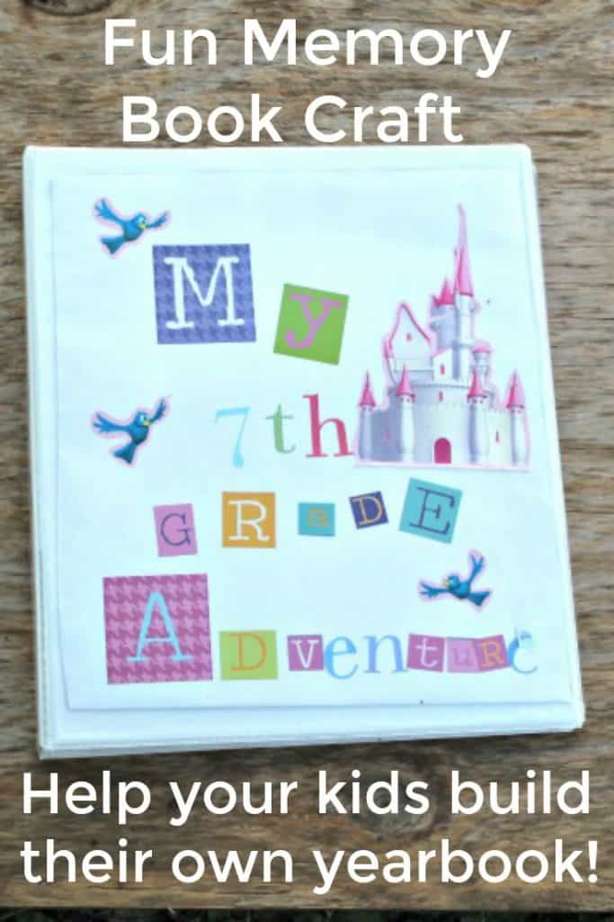 Memory Adventure Book Craft for kids