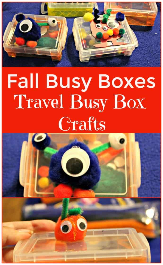 Fall Busy Boxes Travel Busy Box Crafts for kids